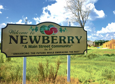 Newberry Welcome Sign ES5A7228